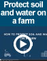 How to protect soil and water on a farm