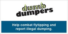 Help combat flytipping and report illegal dumping